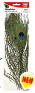 Peacock Feathers x 3 (Item No: 24049)
